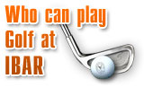 Who can play golf at Ibar?